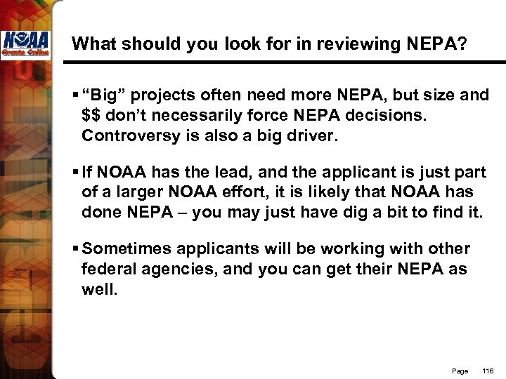 """What should you look for in reviewing NEPA? § """"Big"""" projects often need more"""