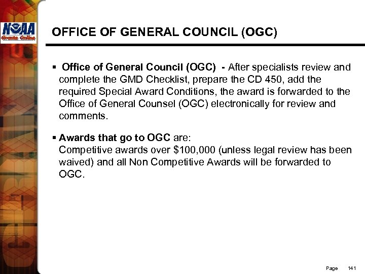 OFFICE OF GENERAL COUNCIL (OGC) § Office of General Council (OGC) - After specialists