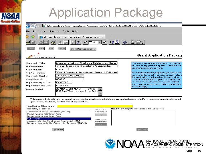 Application Package Page 69
