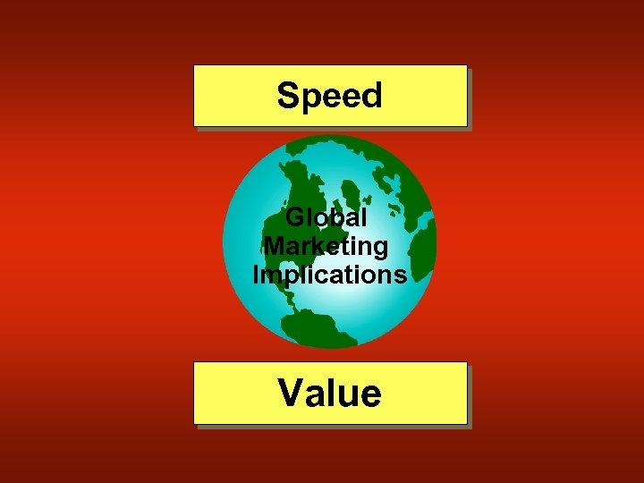 Speed Global Marketing Implications Value