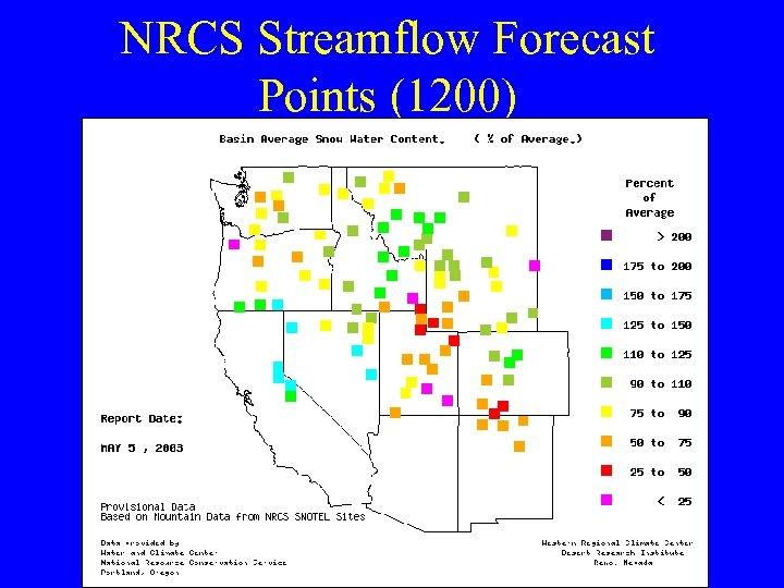 NRCS Streamflow Forecast Points (1200)