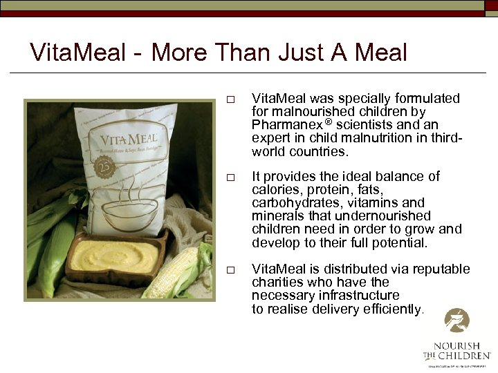Vita. Meal - More Than Just A Meal o Vita. Meal was specially formulated