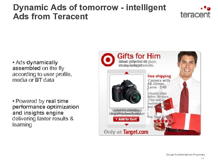 Dynamic Ads of tomorrow - intelligent Ads from Teracent • Ads dynamically assembled on