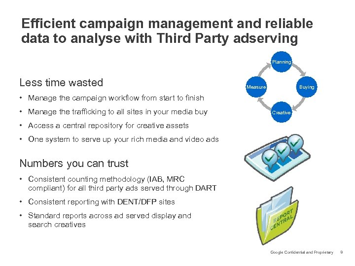 Efficient campaign management and reliable data to analyse with Third Party adserving Planning Less