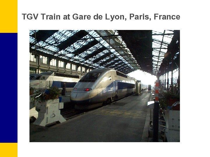 TGV Train at Gare de Lyon, Paris, France