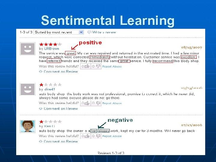 Sentimental Learning