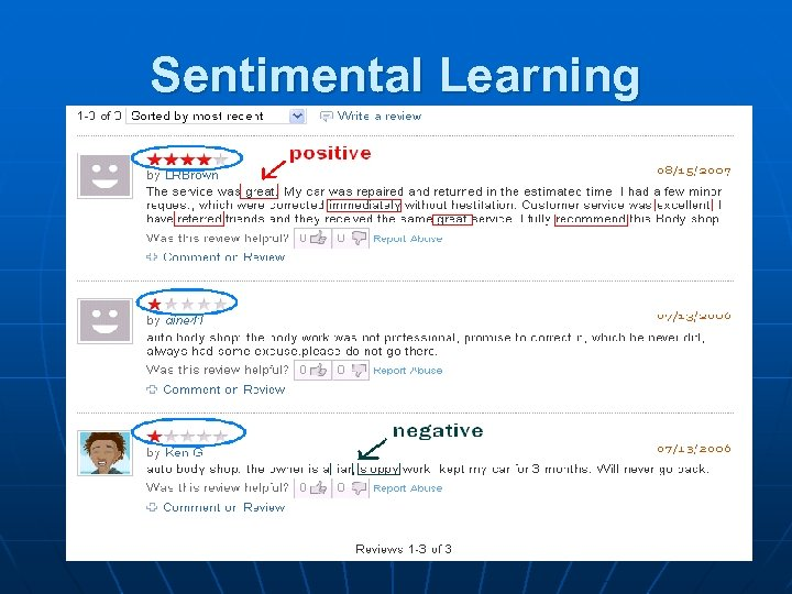Sentimental Learning Can we use ONE score to show good/ bad the store is?
