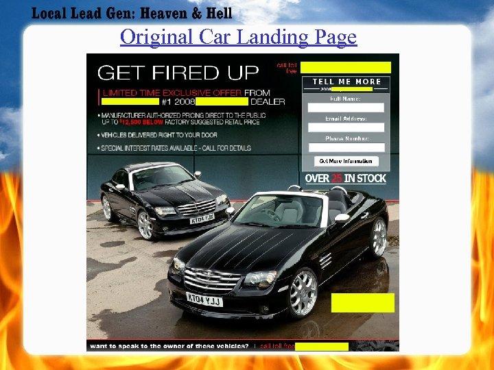 Original Car Landing Page