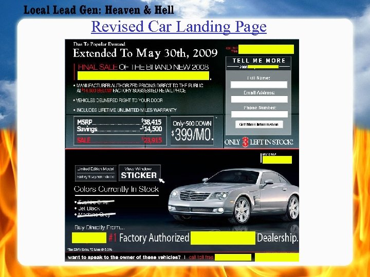 Revised Car Landing Page