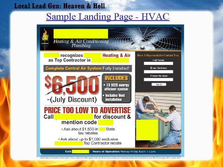 Sample Landing Page - HVAC