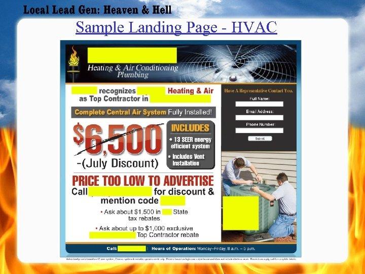 Sample Landing Page - HVAC