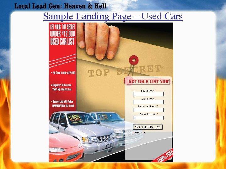 Sample Landing Page – Used Cars