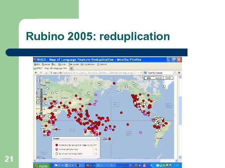 Rubino 2005: reduplication 21