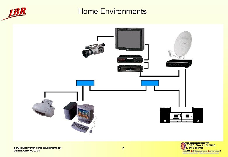Home Environments TECHNISCHE UNIVERSITÄT Service Discovery in Home Environments. ppt Björn H. Gerth_03 -02