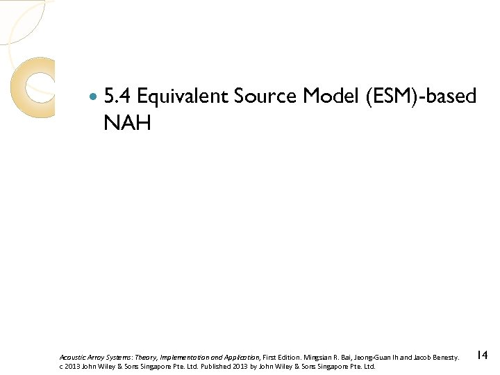 5. 4 Equivalent Source Model (ESM)-based NAH Acoustic Array Systems: Theory, Implementation and