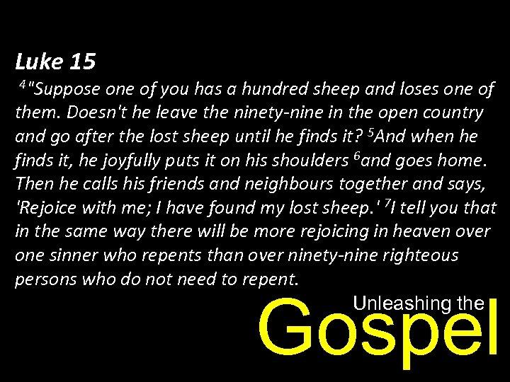 Luke 15 4