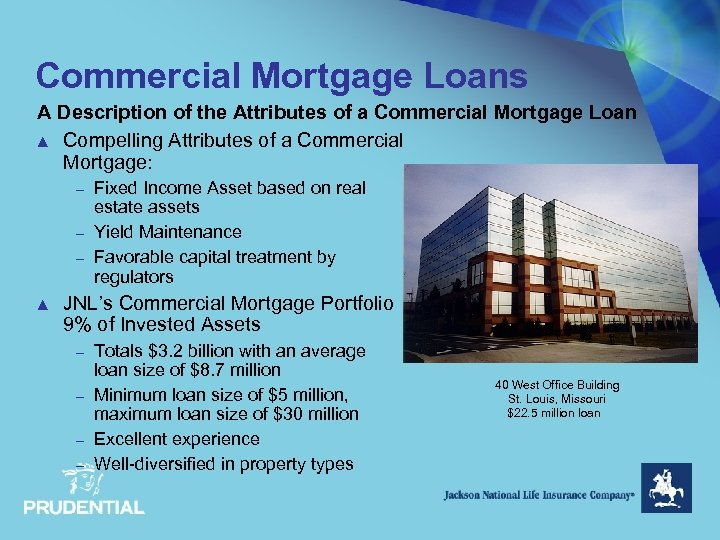 Commercial Mortgage Loans A Description of the Attributes of a Commercial Mortgage Loan ▲
