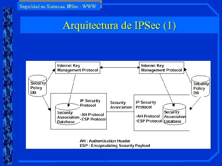 Seguridad en Sistemas: IPSec - WWW Arquitectura de IPSec (1)