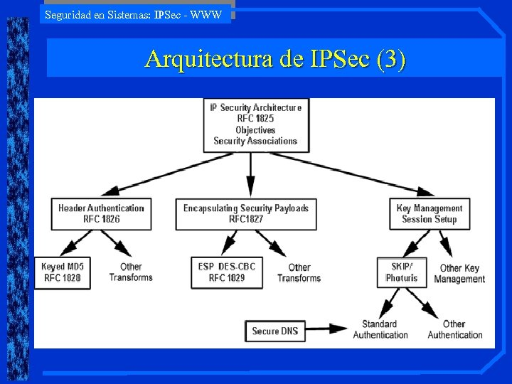 Seguridad en Sistemas: IPSec - WWW Arquitectura de IPSec (3)