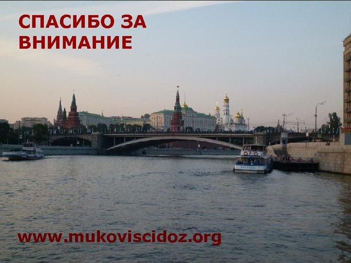 СПАСИБО ЗА ВНИМАНИЕ www. mukoviscidoz. org