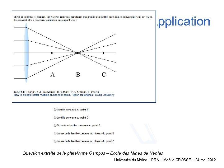 Application Question extraite de la plateforme Campus – Ecole des Mines de Nantes Université