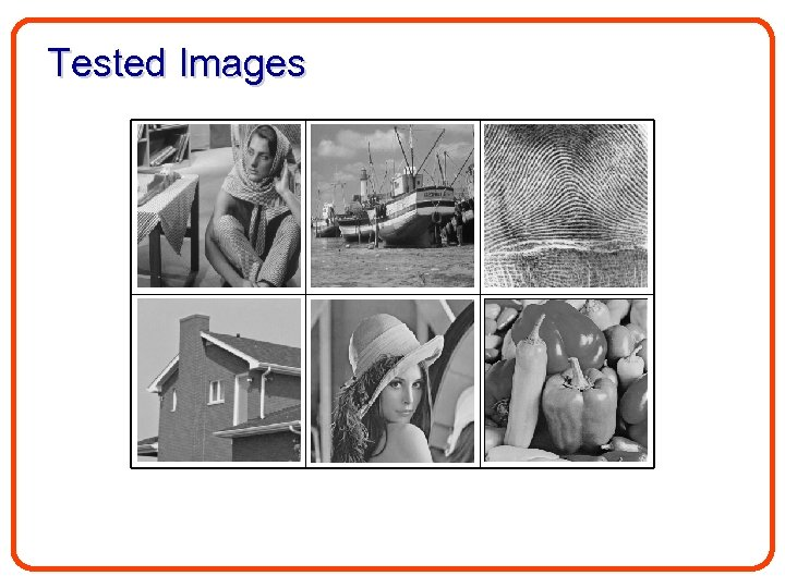 Tested Images