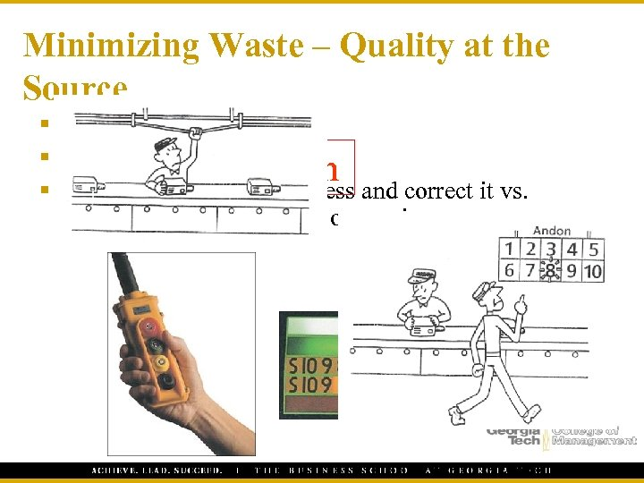"Minimizing Waste – Quality at the Source § ""Do it right the first time"""