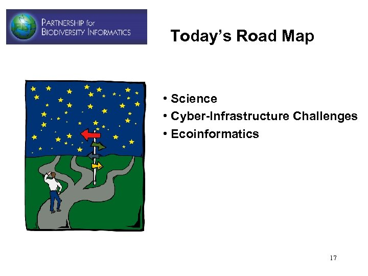 Today's Road Map • Science • Cyber-Infrastructure Challenges • Ecoinformatics 17