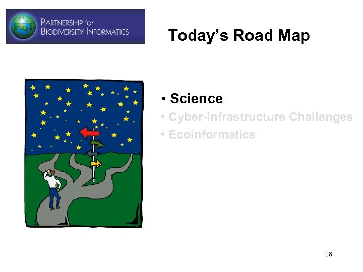 Today's Road Map • Science • Cyber-Infrastructure Challenges • Ecoinformatics 18