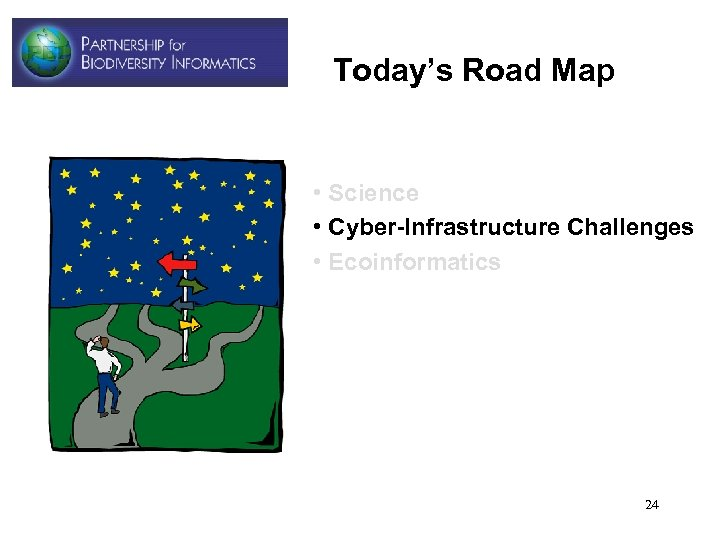 Today's Road Map • Science • Cyber-Infrastructure Challenges • Ecoinformatics 24