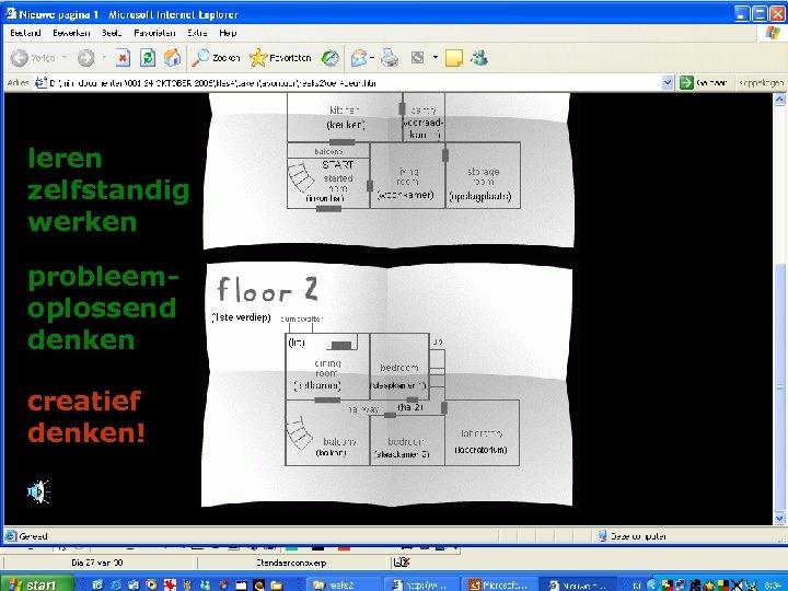 leren zelfstandig werken probleemoplossend denken creatief denken!