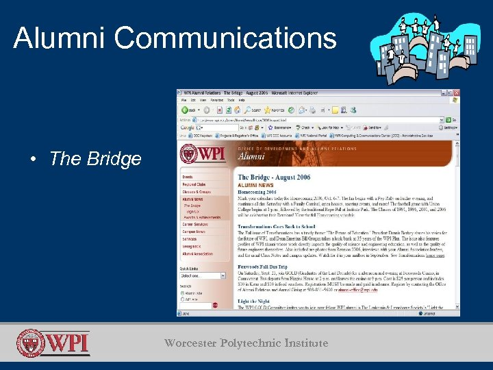 Alumni Communications • The Bridge Worcester Polytechnic Institute