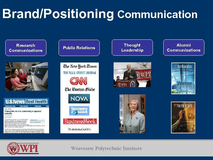 Brand/Positioning Communication Research Communications Public Relations Thought Leadership Worcester Polytechnic Institute Alumni Communications
