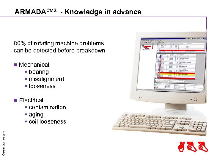 ARMADACMS - Knowledge in advance 80% of rotating machine problems can be detected before