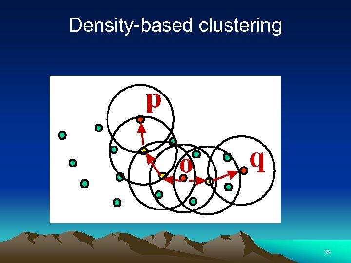 Density-based clustering 35