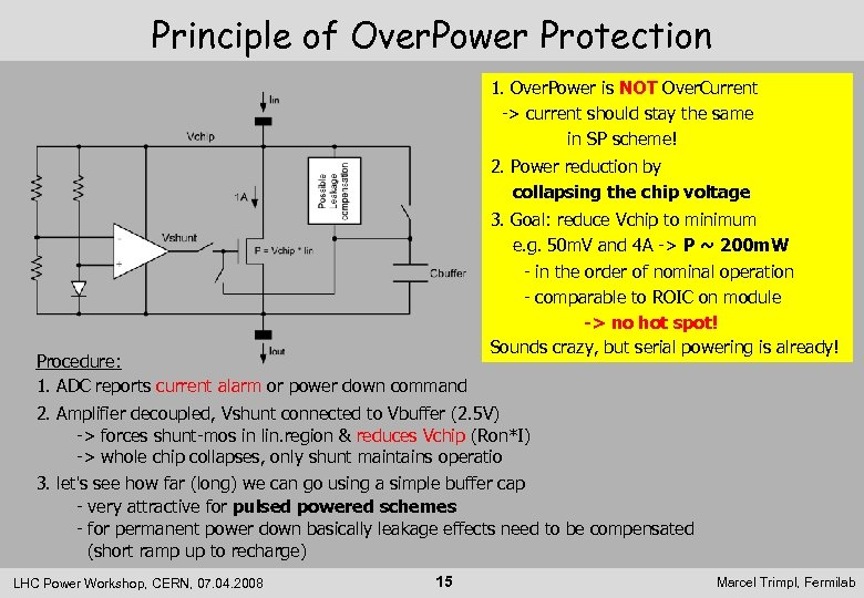 Principle of Over. Power Protection 1. Over. Power is NOT Over. Current -> current