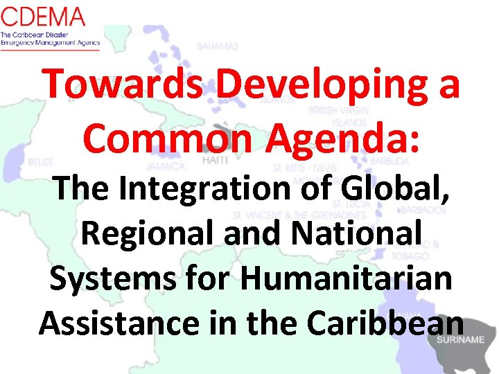 Towards Developing a Common Agenda: The Integration of Global, Regional and National Systems for