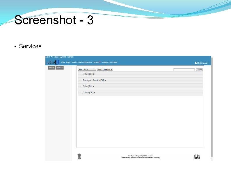 Screenshot - 3 • Services