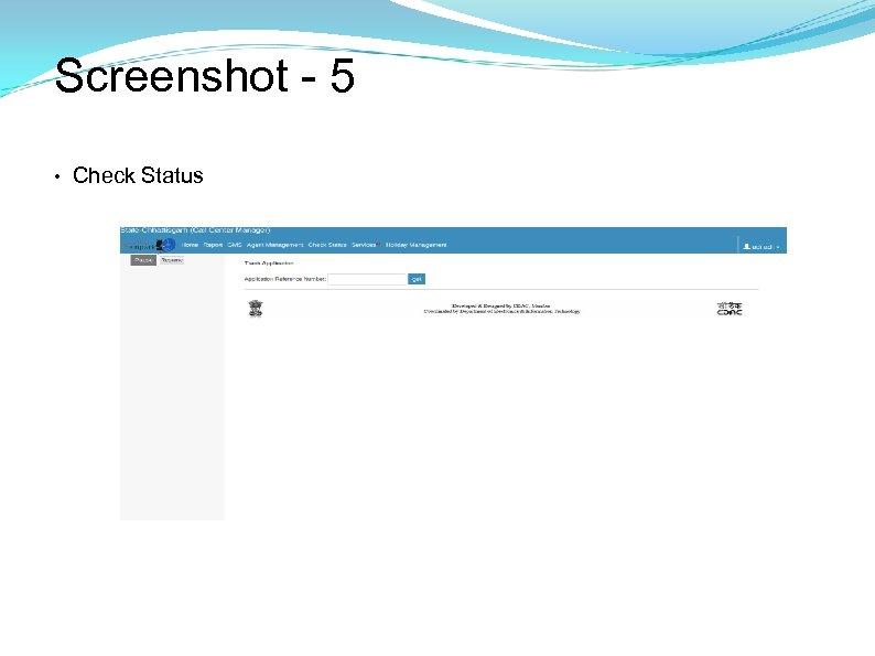 Screenshot - 5 • Check Status