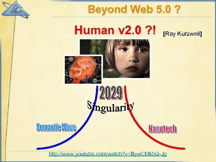 Beyond Web 5. 0 ? Human v 2. 0 ? ! [Ray Kurzweil] http: