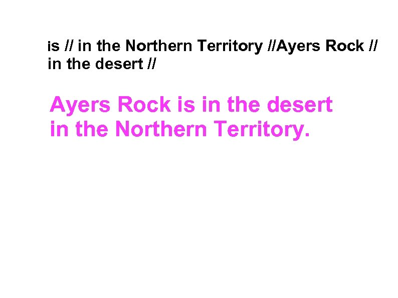 is // in the Northern Territory //Ayers Rock // in the desert //