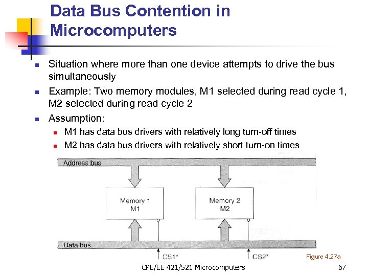 Data Bus Contention in Microcomputers n n n Situation where more than one device