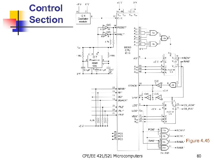 Control Section Figure 4. 45 CPE/EE 421/521 Microcomputers 80