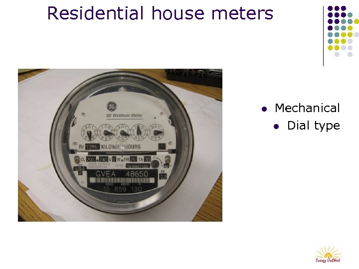 Residential house meters l Mechanical l Dial type