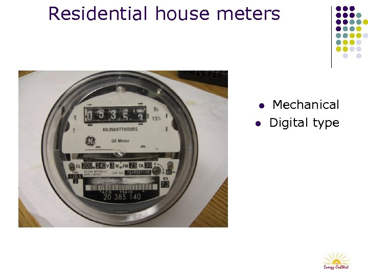 Residential house meters l l Mechanical Digital type
