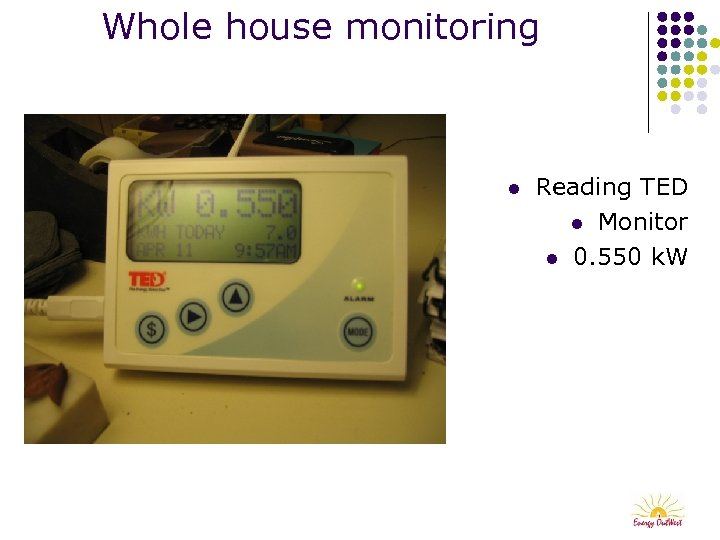 Whole house monitoring l Reading TED l Monitor l 0. 550 k. W