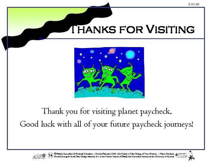 2. 13. 1. G 1 Thanks for Visiting Thank you for visiting planet paycheck.