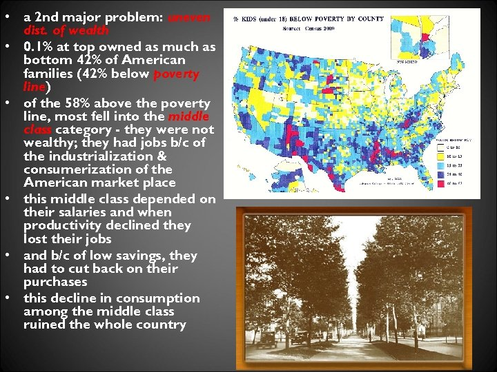 • a 2 nd major problem: uneven dist. of wealth • 0. 1%