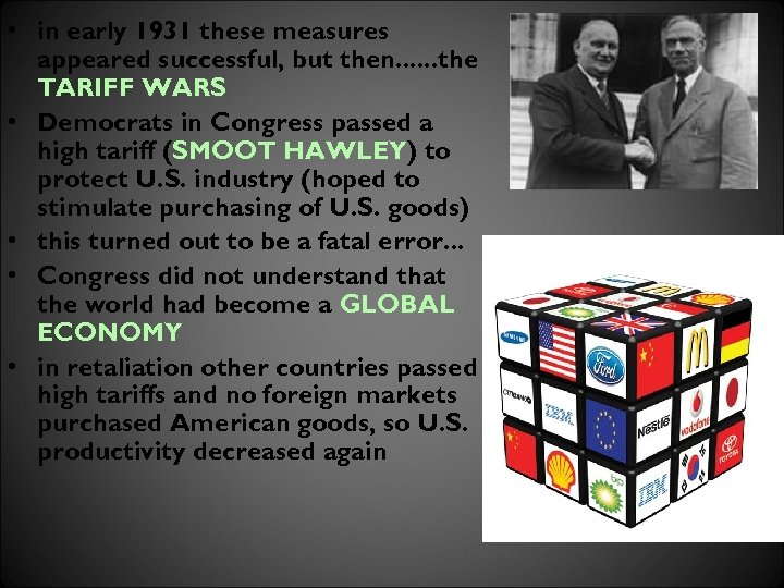 • in early 1931 these measures appeared successful, but then. . . the