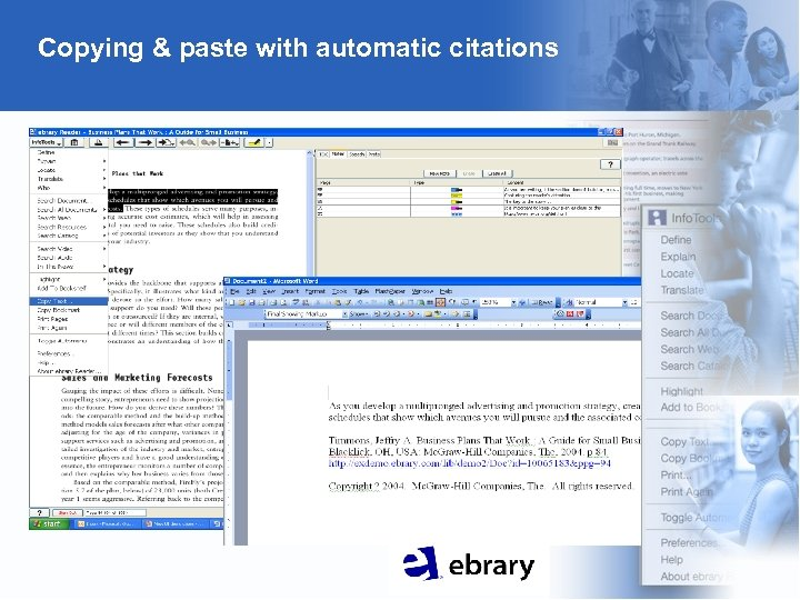 Copying & paste with automatic citations